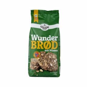 Amestec pentru paine cu alune de padure si migdale fara gluten ECO 600 g, Bauck Hof