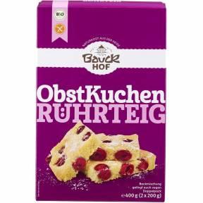 Amestec pentru prajitura cu fructe, fara gluten, ECO, 400 g (2 x 200 g), Bauck Hof