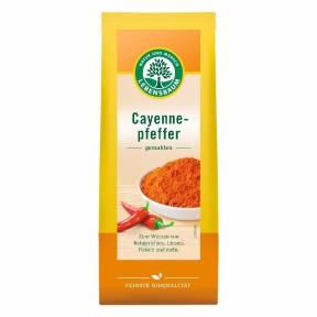 Ardei iute Cayenne, macinat, ECO, 50 g, Lebensbaum