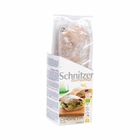Bagheta Ciabatta fara gluten cu faina de porumb si masline ECO 360 g (2 x 180 g), Schnitzer