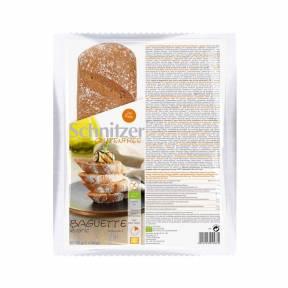 Bagheta Rustic fara gluten cu faina din seminte de in, de porumb si de orez ECO 320 g (2 x 160 g), Schnitzer