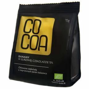 Banane invelite in ciocolata raw-vegana, ECO, 70 g, Cocoa