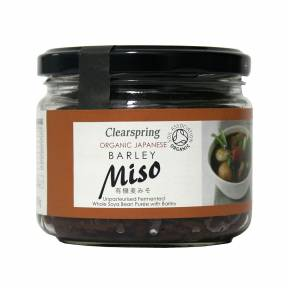 Barley Miso - pasta Miso din soia si orz nepasteurizata ECO 300 g, Clearspring