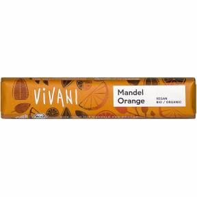 Baton cu migdale si portocale ECO 35 g, Vivani