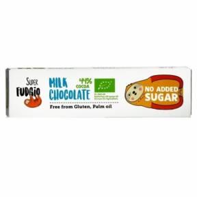 Baton de Ciocolata cu lapte, fara zahar adaugat, ECO, 40g, Super Fudgio