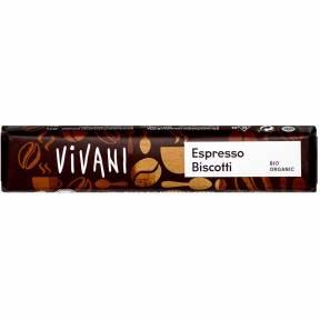 "Baton de ciocolata ""Espresso biscotti"" ECO 40 g, Vivani"