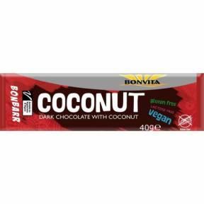 Baton de Ciocolata Neagra cu Cocos, ECO, 40g, Bonvita