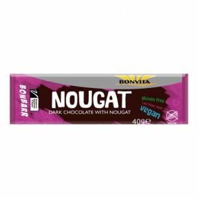 Baton de Ciocolata Neagra cu Nuga, ECO, 40g, Bonvita
