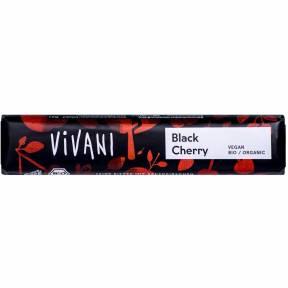 Baton de ciocolata neagra cu visine ECO 35 g, Vivani