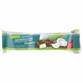 Baton de cocos cu glazura din lapte integral , ECO, 50 g, Rapunzel