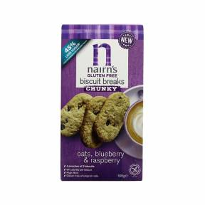 Biscuiti fara gluten din ovaz integral cu afine si zmeura 160 g, Nairn's