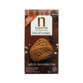 Biscuiti fara gluten din ovaz integral cu ciocolata 160 g, Nairn's