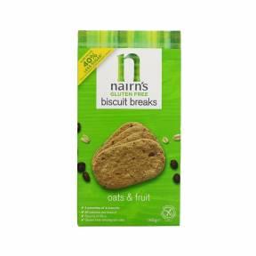 Biscuiti fara gluten din ovaz integral cu fructe 160 g, Nairn's