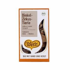 Biscuiti in forma de animale indulciti cu miere ECO 125 g, Werz