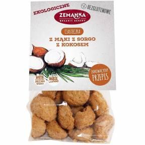 Biscuti din faina de sorg, cu cocos, fara gluten, ECO, 100 g, Zemanka