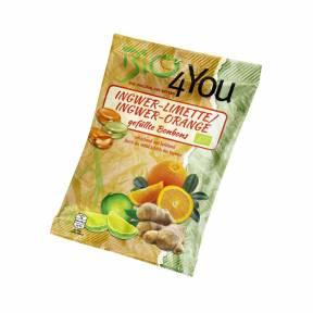 Bomboane cu ghimbir si lime / ghimbir si portocala ECO 75 g, Bio4you