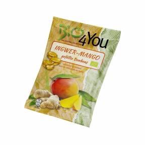 Bomboane cu ghimbir si mango ECO 75 g, Bio4you