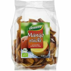 Bucati de mango uscate, ECO, 100g, Dennree