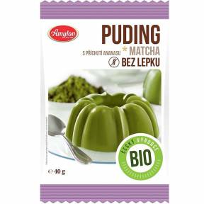 Budinca fara gluten, cu ceai verde matcha si aroma de ananas, ECO, 40 g