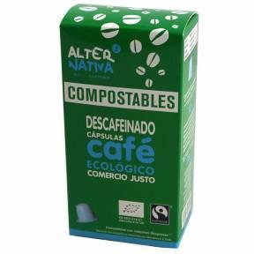 Cafea decofeinizata, 10 capsule compatibile Nespresso, ECO, 50 g,