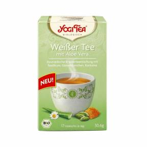 Ceai alb cu aloe vera ECO 30,6 g (17 plicuri x 1,8 g), Yogi Tea