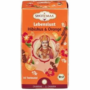 Ceai ayurvedic cu hibiscus si portocala ECO 32 g (16 pliculete x 2 g), Shoti Maa