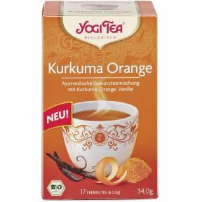 Ceai ayurvedic cu turmeric, scortisoara si ghimbir ECO 34 g (17 pliculete x 2g), Yogi Tea