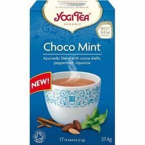 Ceai Choco Mint, cu boabe de cacao si menta, ECO, 37.4 g (17 x 2.2 g), Yogi Tea