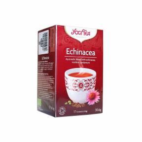 Ceai cu echinacea, rooibos si cardamom ECO 30,6 g (17 pliculete x 1.8g), Yogi Tea