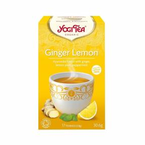 Ceai cu ghimbir, coaja de lamaie si menta  ECO 30.6 g  (17 pliculete), Yogi Tea