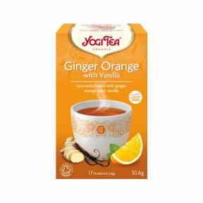 Ceai cu ghimbir, coaja de portocala si vanilie ECO 30.6 g (17 pliculete), Yogi Tea