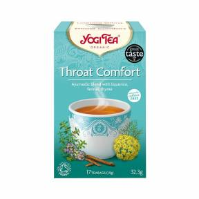 Ceai cu lemn dulce, fenicul si cimbru (Throat Comfort) ECO 32.3 g (17 pliculete), Yogi Tea