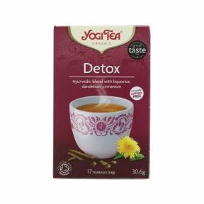 Ceai Detox cu lemn dulce, papadie si scortisoara ECO 17 pliculete (30.6 g), Yogi Tea