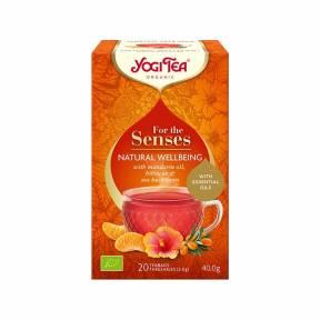 Ceai Natural Wellbeing – Pentru simturi, ECO, 40 g (20x2g), Yogi Tea