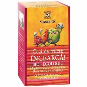 Ceai plicuri Mix fructe - Incearca!, ECO, 20 dz  (47.6 g), Sonnentor