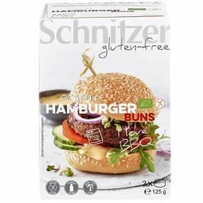 Chifle pentru hamburger, fara gluten, ECO 125 g  (2 buc), Schnitzer