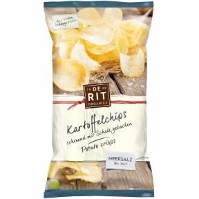 Chipsuri de cartofi cu sare de mare, ECO, 125g, De Rit