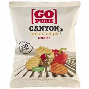 Chipsuri din cartofi cu boia ECO 125 g, Go Pure