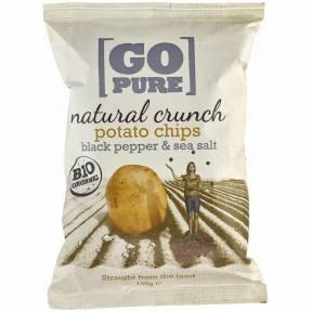 Chipsuri din cartofi cu piper negru ECO 125 g, Go Pure