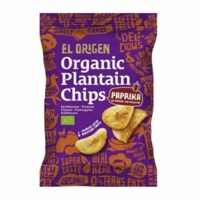 Chipsuri din plantain (banana), paprika, ECO, 80g, El Origen