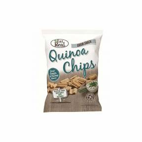 Chipsuri din quinoa, cu aroma de smantana si arpagic, fara gluten, 80 g, Eat Real