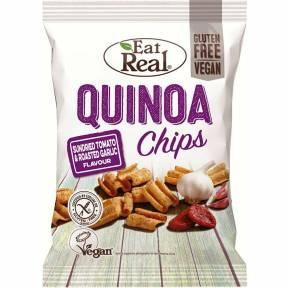 Chipsuri din quinoa, cu rosii uscate si usturoi copt, fara gluten, 80 g, Eat Real