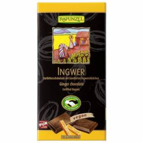 Ciocolata amaruie cu Ghimbir si 55% cacao VEGANA, ECO, 80 g, Rapunzel