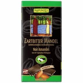 Ciocolata amaruie cu Migdale si 55% cacao VEGANA, ECO, 80 g, Rapunzel