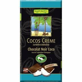 Ciocolata amaruie cu umplutura de crema de cocos VEGANA, ECO, 100 g, Rapunzel