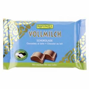 Ciocolata Cristalino cu lapte integral , ECO, 100 g, Rapunzel