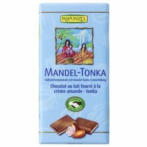 Ciocolata cu crema de Migdale si Tonka , ECO, 100 g, Rapunzel