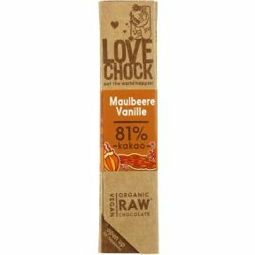 Ciocolata cu dude si vanilie ECO raw-vegan 40 g, Lovechock