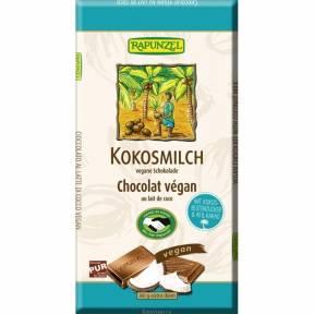 Ciocolata cu lapte de cocos , ECO, 80 g, Rapunzel
