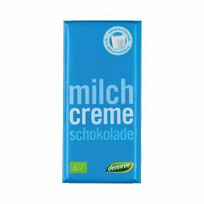 Ciocolata cu lapte si crema de lapte ECO 100 g, Dennree